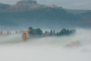 Bieszczadzkie jesienne mgły