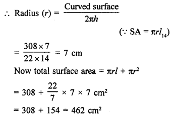 RD Sharma Class 9 Questions Chapter 20 Surface Areas and Volume of A Right Circular Cone