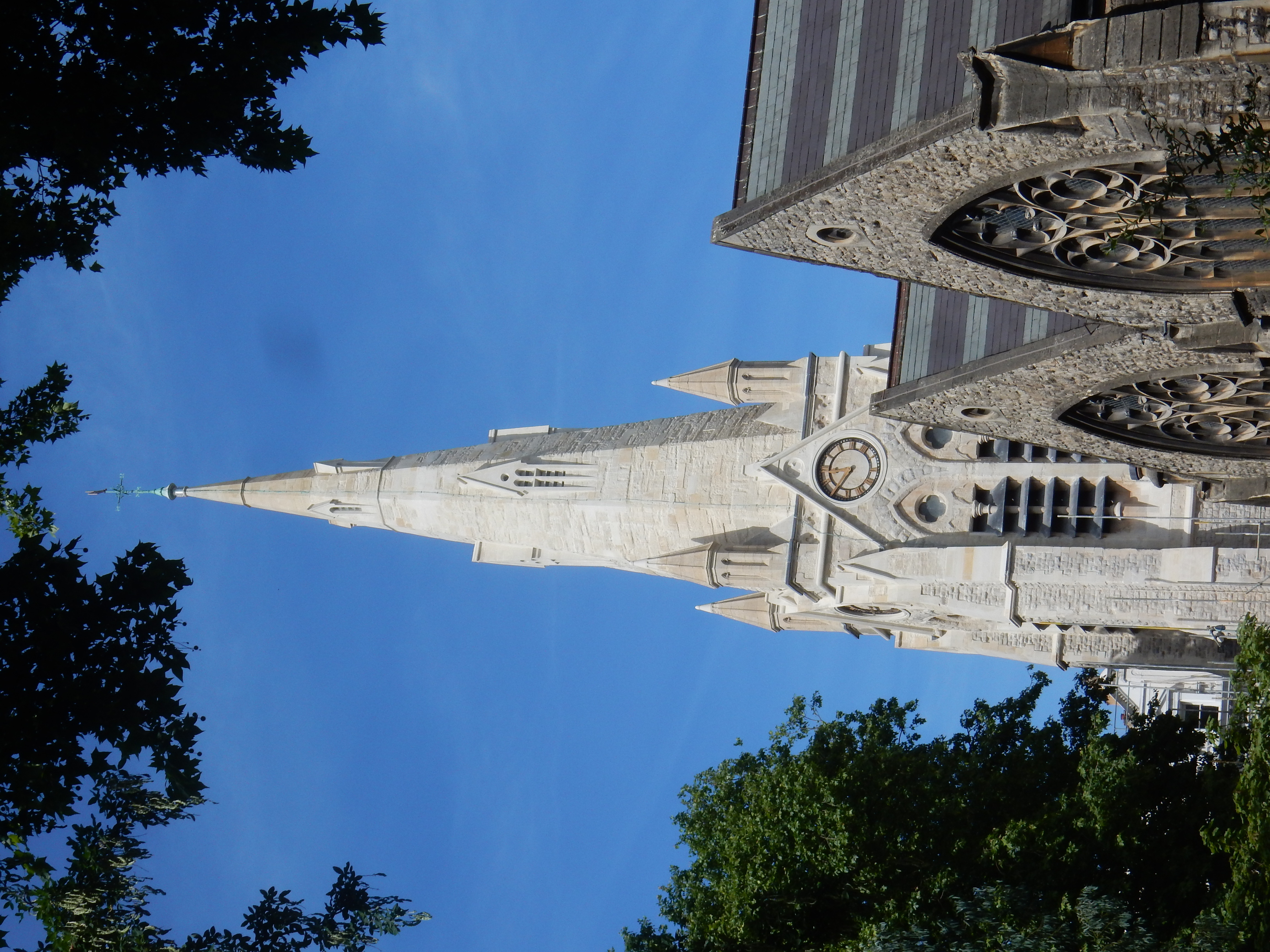 St Jude's church, now occupied by St Millitus college, Kensington -  Completed spire