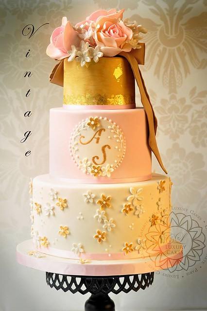 Vintage Wedding Cake by Paris Luxury Cakes