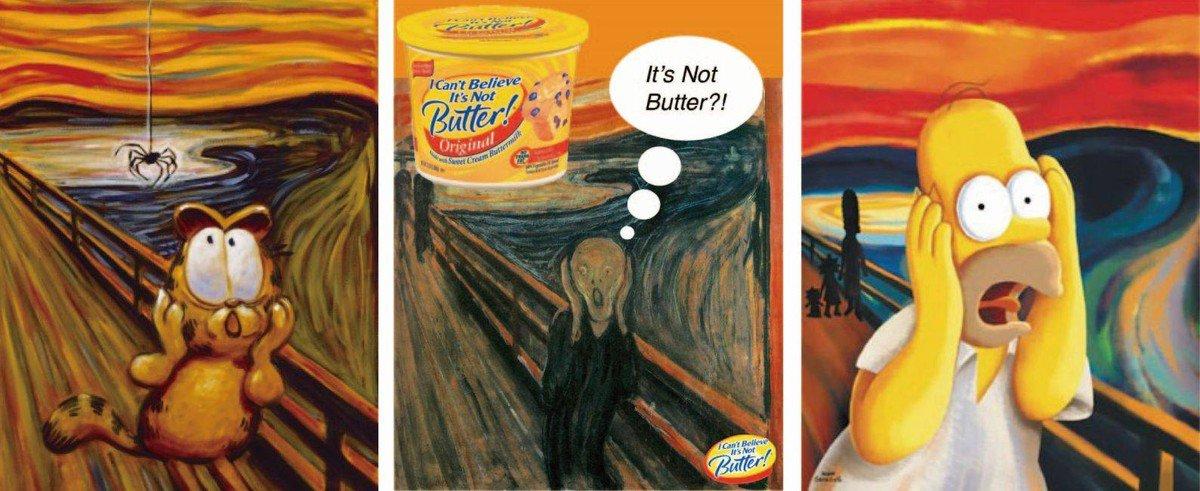 蒙克(Edvard Munch)名作《吶喊》(The Scream)的惡搞圖(網絡圖片)