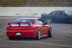 Nissan Silvia S15 (Martin Battye) drifting at Rockingham Motor Speedway