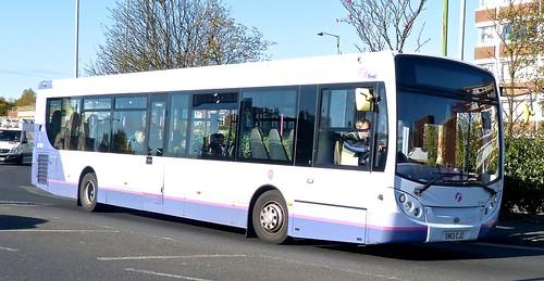 SN13 CJZ 'First Manchester' No. 67404. Alexander Dennis Ltd. (ADL) E30D / 'ADL' Enviro 300 on Dennis Basford's railsroadsrunways.blogspot.co.uk'
