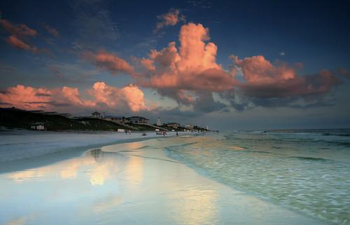 seasidefl sowal beach sunset waltoncounty florida