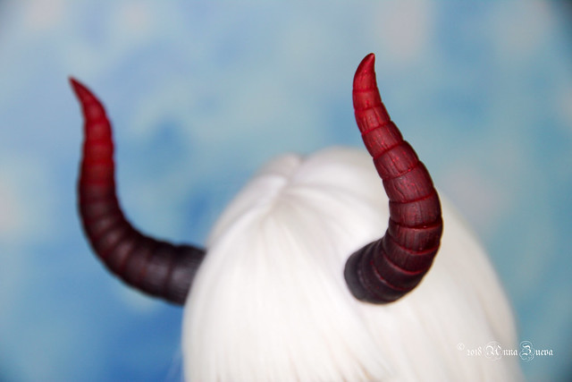 DArk red gradated Maleficent horns MSD