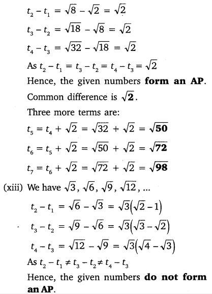 NCERT Solutions for Class 10 Maths Chapter 5 Arithmetic Progressions 14