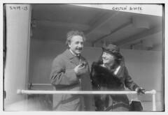[Albert] Einstein & wife (LOC)
