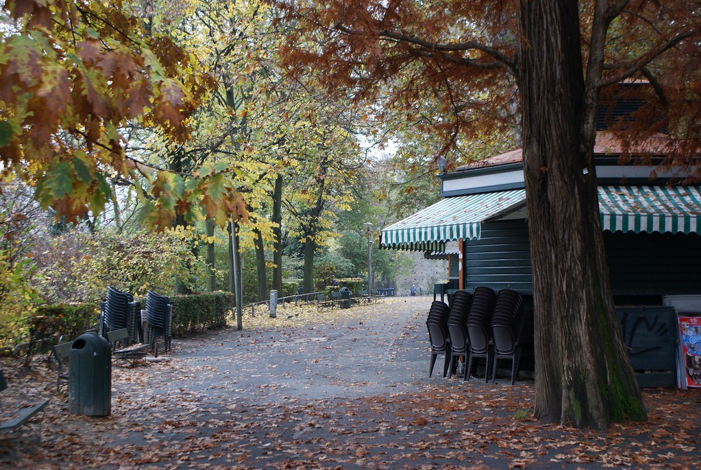 Parc du Valentino à Turin en automne.
