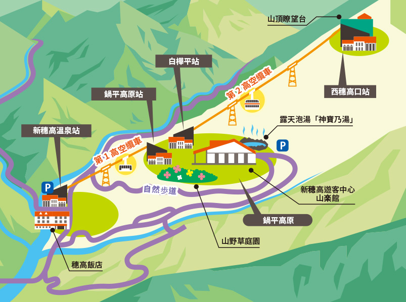 新穗高纜車地圖