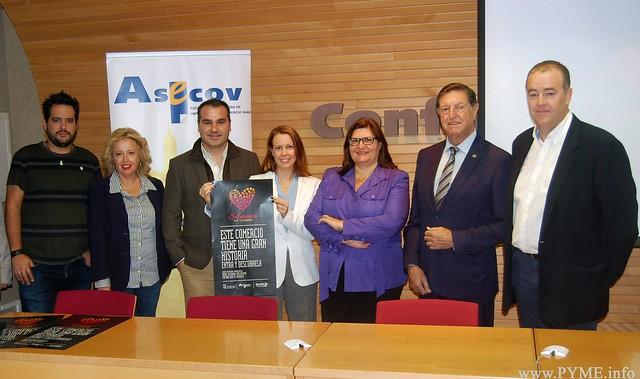 Empresarios intervinientes en la campaña de ASECOV 'Grandes historias del pequeño comercio de Salamanca'.