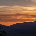 Coucher de soleil depuis les Terres Rouges