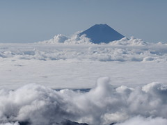 Mt. Fuji in clouds