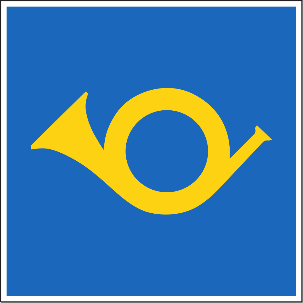 Sign indicating public transport has priority over other vehicles