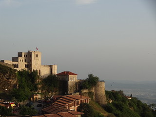 Krujë Castle and Bazaar, from the Hotel Panorama