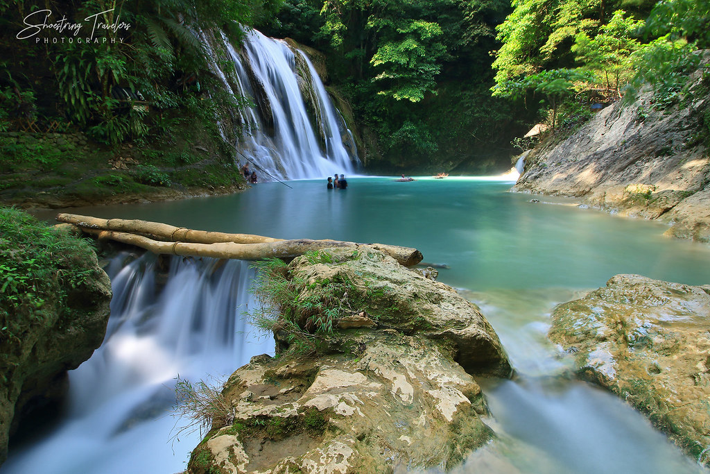 Daranak Fall's turquoise-colored catch basin and smaller cascade, Tanay, Rizal
