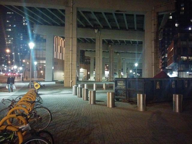 Under the Gardiner (3) #toronto #gardinerexpressway #night #fortyork #latergram