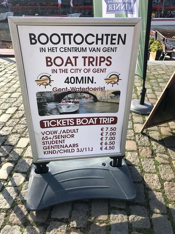 Paseo en barco por Gante