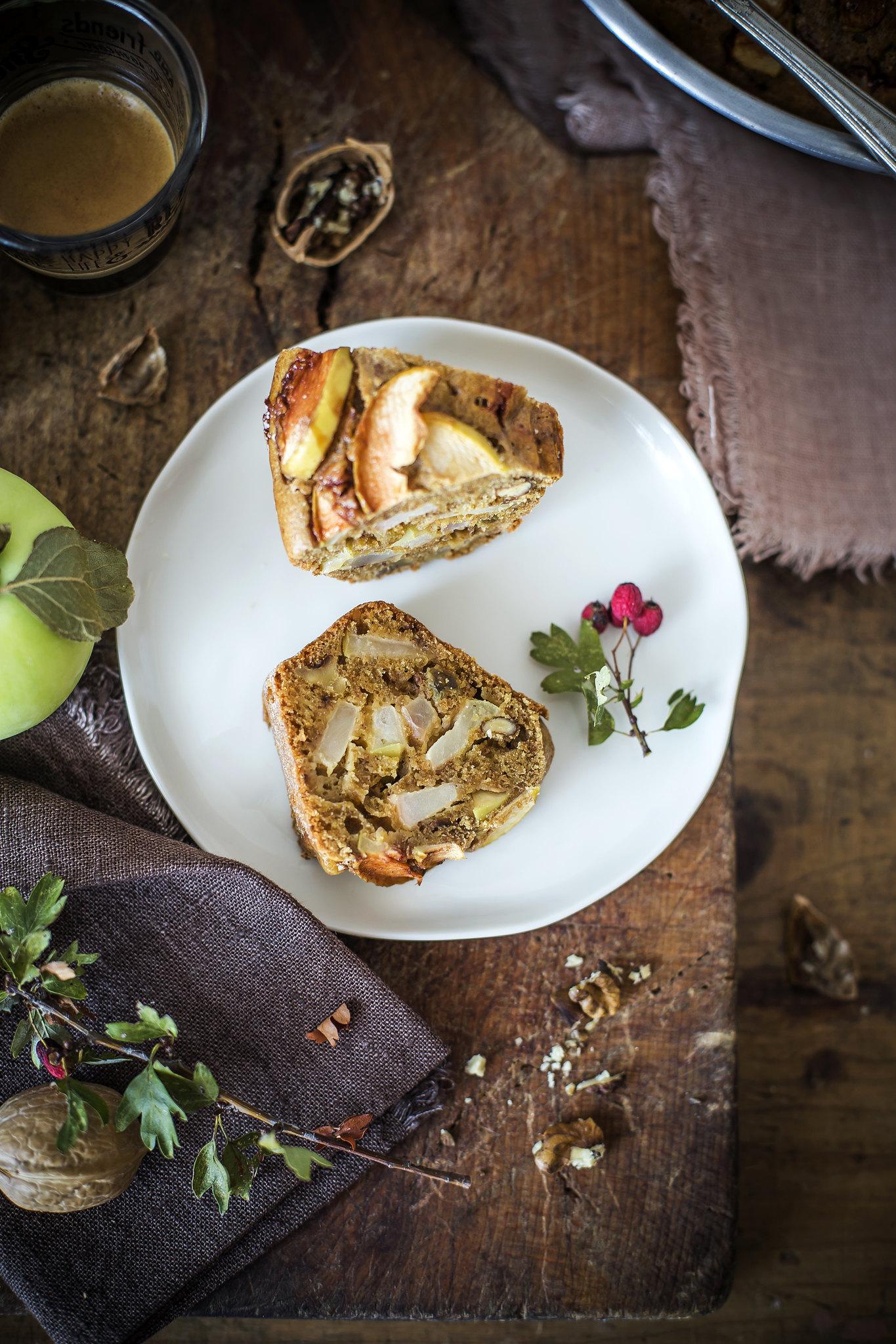 Torta di mele e noci senza zuccheri aggiunti2
