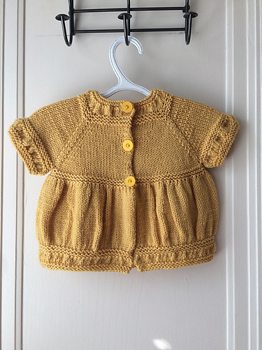 Lise's Matilda Cardigan by schneckenstrick knit with Cascade 220 Superwash in Daffodil