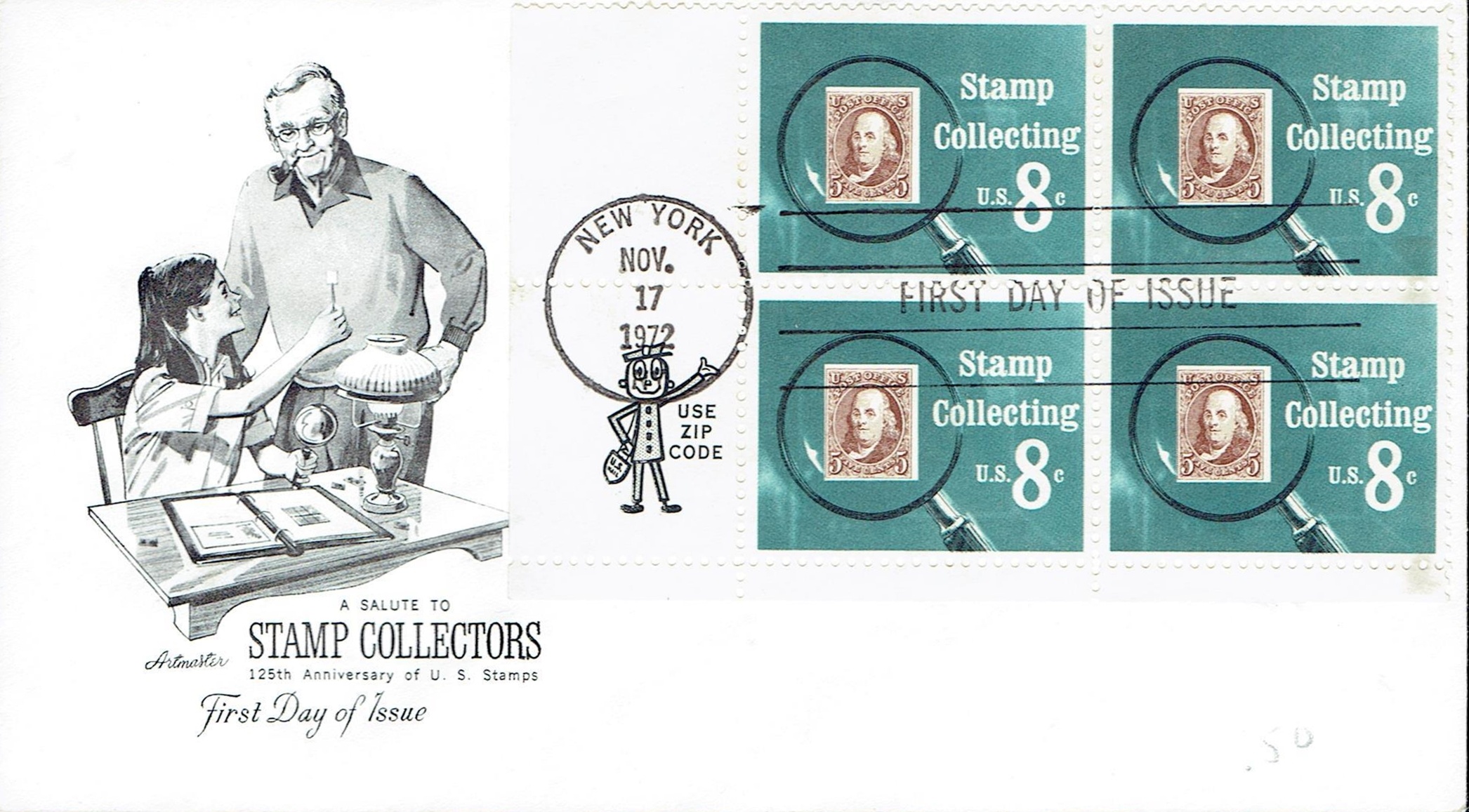 United States - Scott #1474 (1972) first day cover, Artmaster cachet