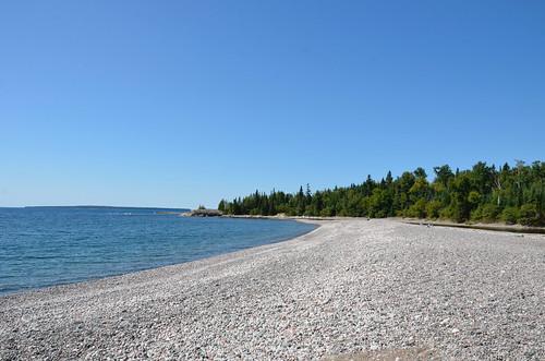 Lake Superior Park - bay at the end of Orphan Lake trail