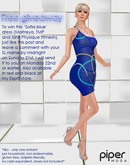 Piper Moda 'Sofia blue' dress giveaway