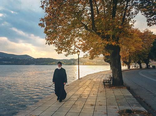 Walking to the lakeside