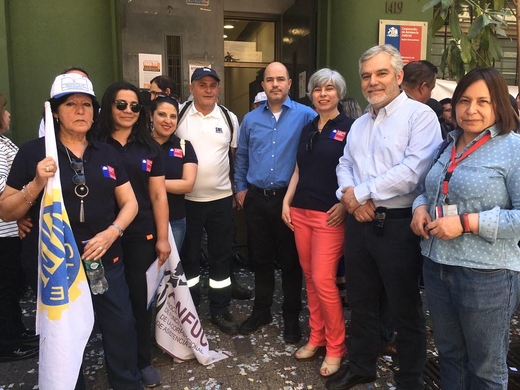 Gran Paro FENADAJ: Marchas en Santiago y Regiones para entregar carta a Subsecretario de Justicia, en Dipres y a Seremis – 07 Noviembre 2018