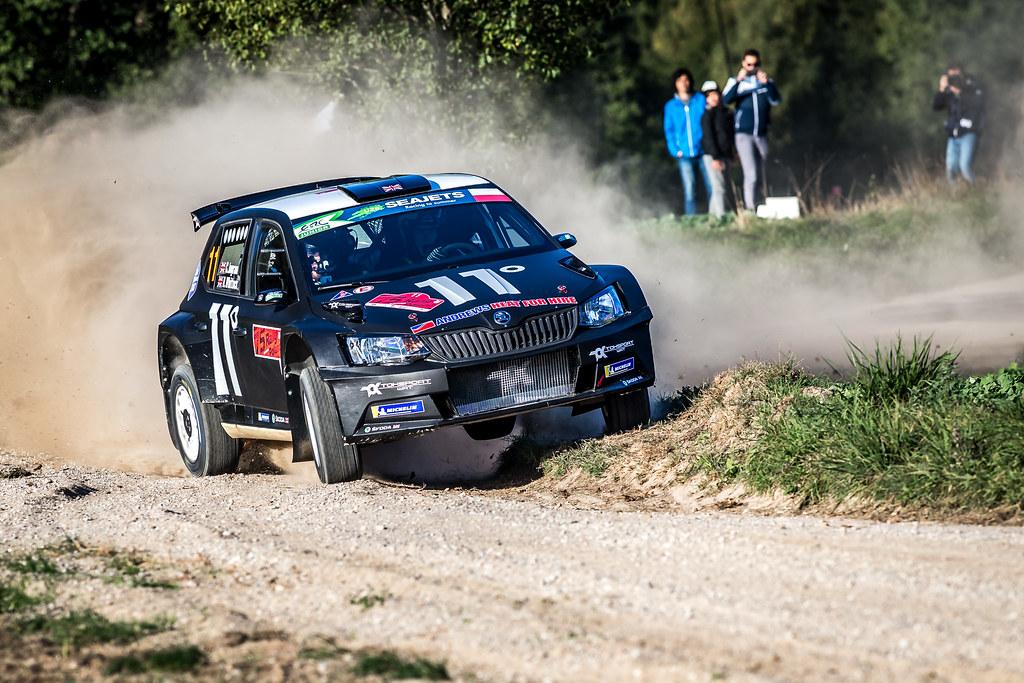11 INGRAM Chris (GBR), WHITTOCK Ross (GBR), TOKSPORT WRT, Skoda Fabia R5, action during the 2018 European Rally Championship Rally Poland at Mikolajki from September 21 to 23 - Photo Thomas Fenetre / DPPI
