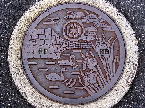 Hikone Shiga, manhole cover 3 (滋賀県彦根市のマンホール3)