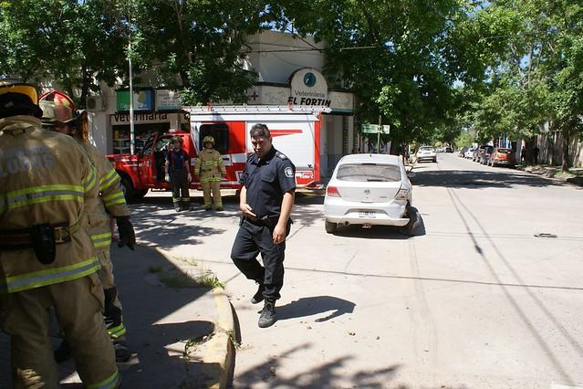 choque en Rivadavia y Lacoste