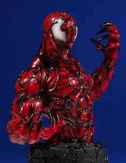 充滿狂氣的暴亂造型再現! Gentle Giant Marvel【屠殺】Carnage 1/6 比例半身胸像作品