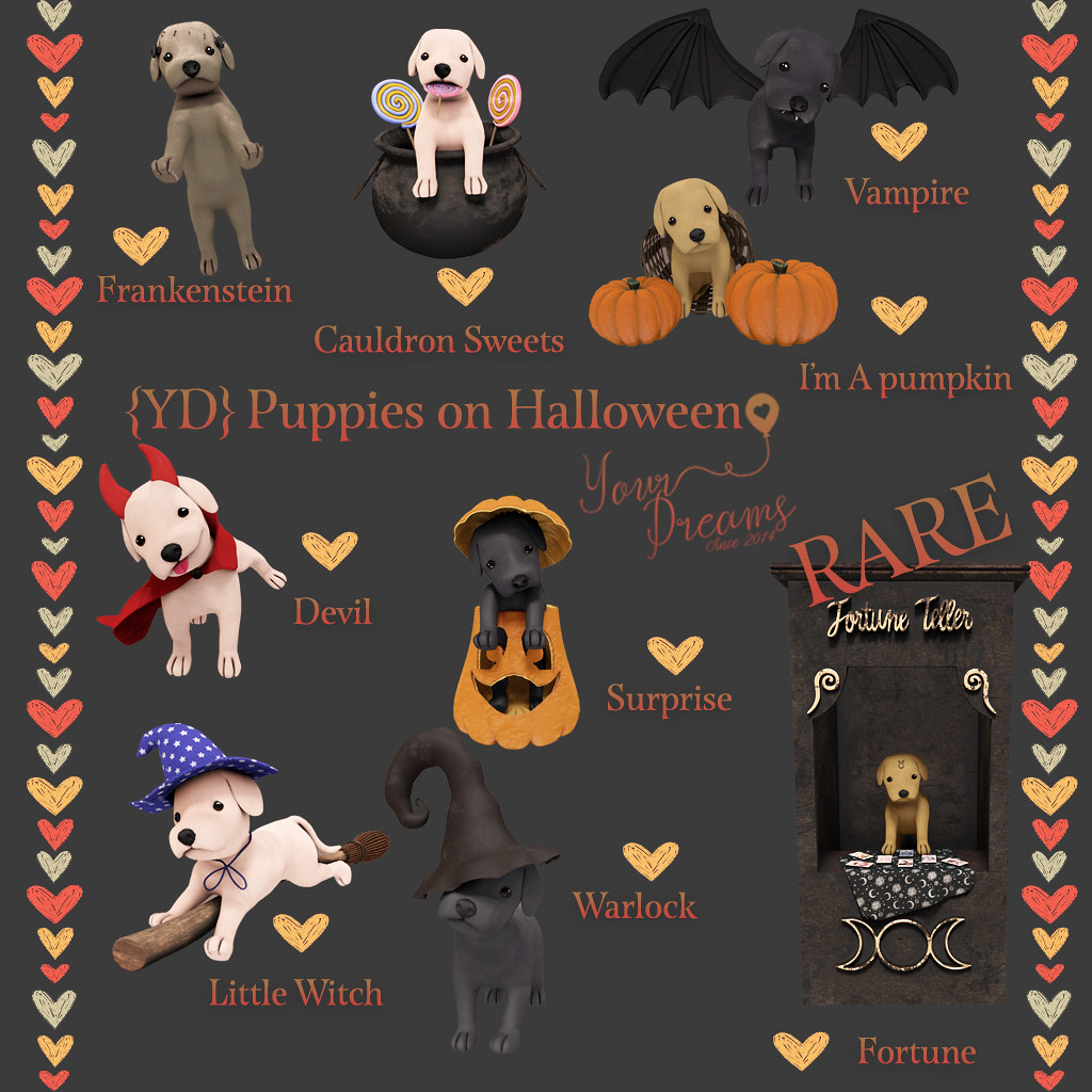 {YD} Puppies on Halloween - TeleportHub.com Live!