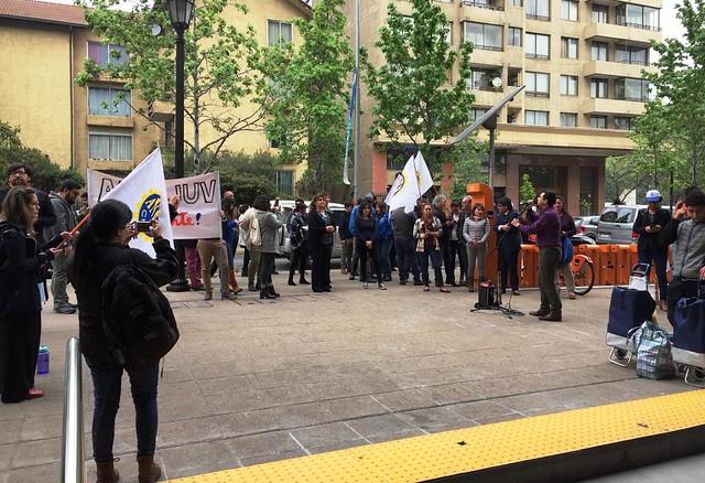 ANEF, FENAMIAS y AFINJUV protestan en Ministerio de Desarrollo Social (10-10-2018)