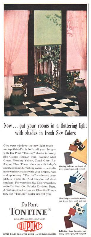 Du Pont, Tontine Window Shades 1954