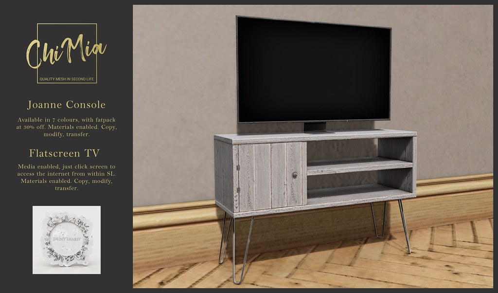 ChiMia – Joanne Console & Flatscreen TV at Shiny Shabby October 2018