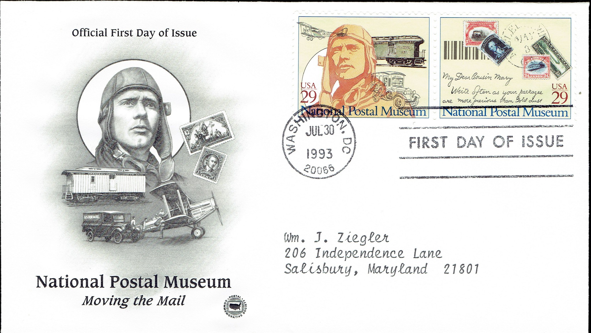 United States - Scott #2781-2782 (1993) first day cover from Postal Commemorative Society