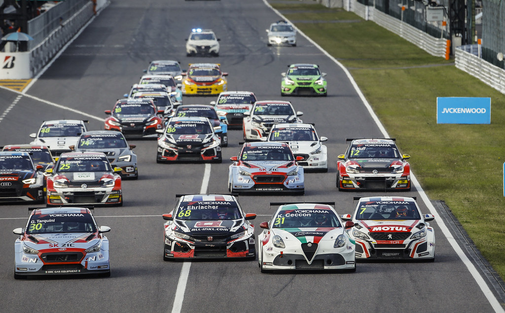 Start race 3 during the 2018 FIA WTCR World Touring Car cup of Japan, at Suzuka from october 26 to 28 - Photo Francois Flamand / DPPI