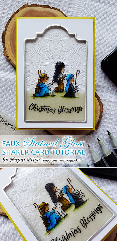 Faux Stained Glass Shaker Card pinterest