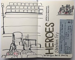 Bit of a doodle while waiting for @stephenfryactually to arrive on stage to educate us about the Greek myths. Excellent evening! #urbansketchers #manchesterurbansketchers @bridgewaterhall #moleskine #urbansketch #eyeshootflickr