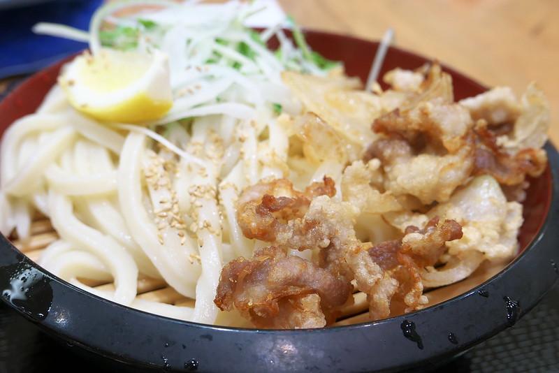 丸亀製麺 豚唐ざるうどん
