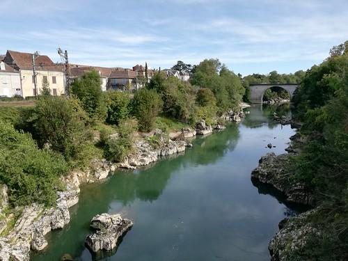 Gave de Pau depuis Pont Vieux. Orthez