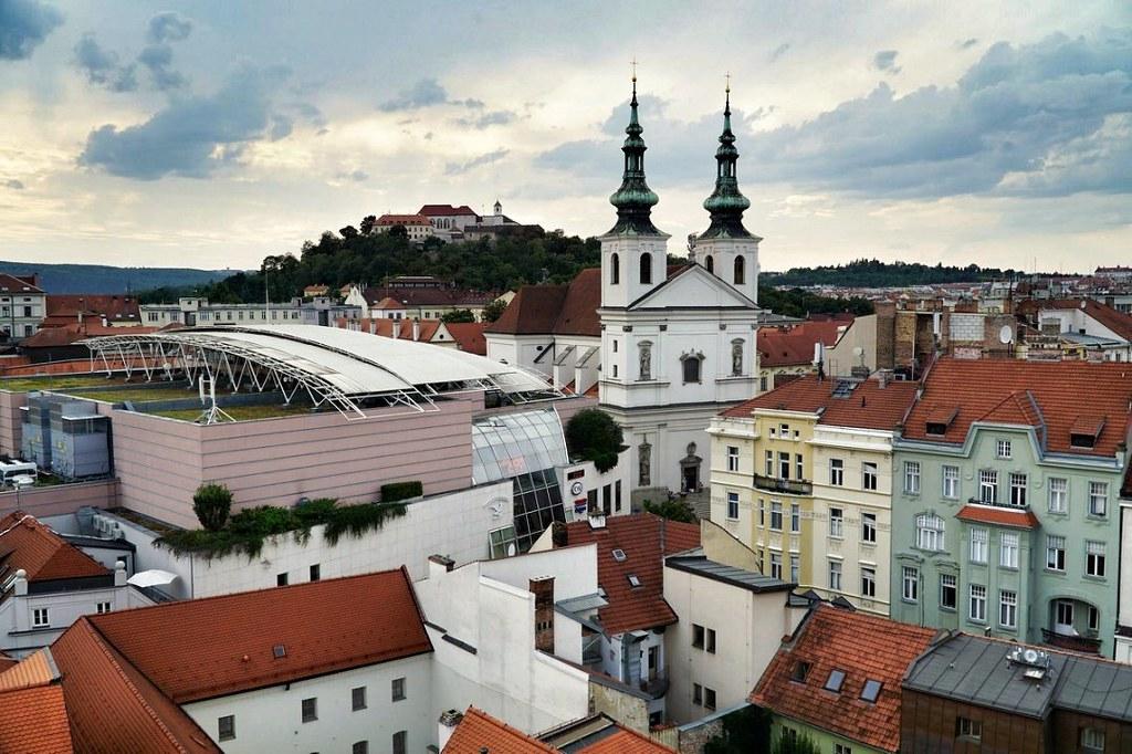 Näkymä Brnon Raatihuoneen tornista