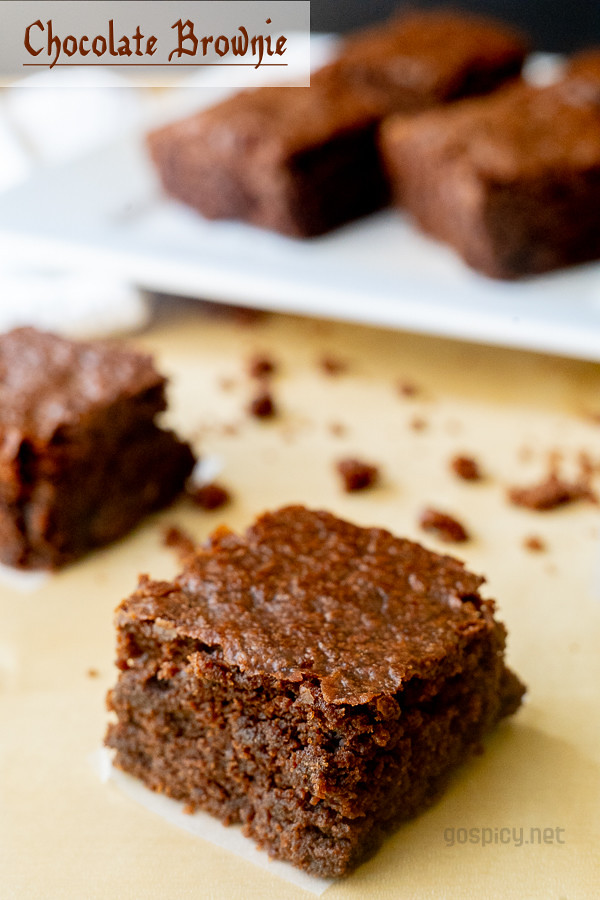 Eggless Brownie Recipe Recipe by GoSpicy.net