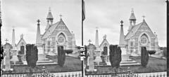 Graveyards, memorials of Robt. Potter MP for Limerick, Fitzgerald of Garryowen, etc. church in background, Limerick City, Co. Limerick