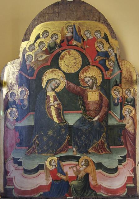 Incoronazione della Vergine, Stefano -Plebanus- di Sant'Agnese, 1369-1385,