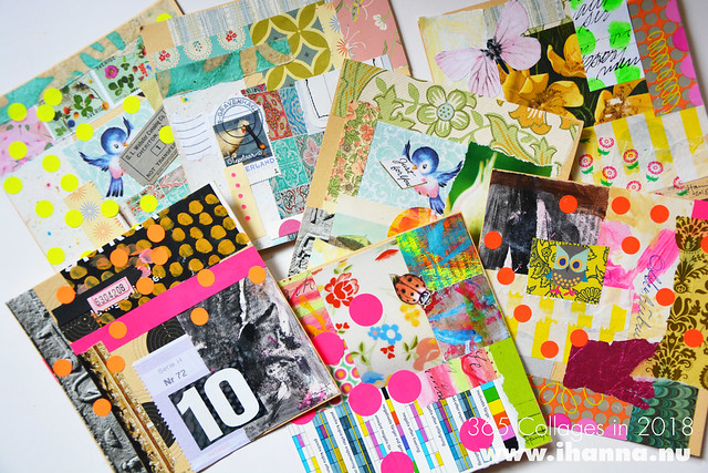My pile of collages from week 40