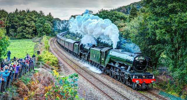 The Flying Scotsman In Cornwall.