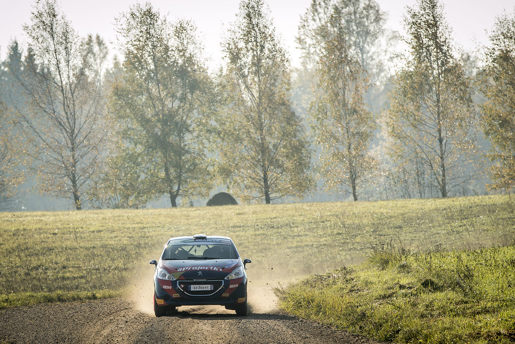 24 HOKKANEN Miika, (FIN), Reeta HAMALAINEN, (FIN), Sainteloc Junior Team, Peugeot 208 R2, Action during the 2018 European Rally Championship ERC Liepaja rally,  from october 12 to 14, at Liepaja, Lettonie - Photo Gregory Lenormand / DPPI