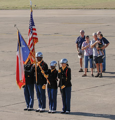 Presenting the Colors. Opening of Wings Over Dallas 2018.